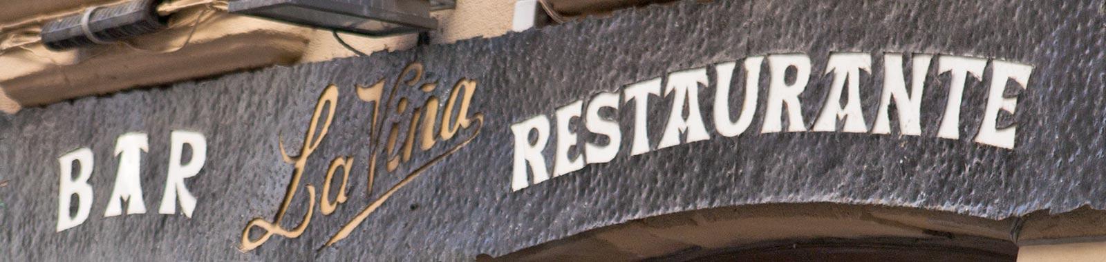 Cartes du bar-restaurant La Viña Sain Sebastien