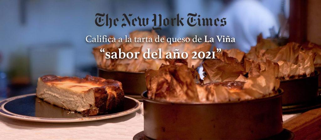 Tarta de queso La Viña sabor de 2021, según The New York Times